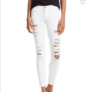Frame - le color distressed skinny jeans